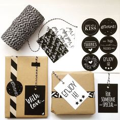 Set cadeaustickers + cadeaulabels! #stationary #wrapping
