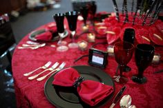 50 Shades of Grey inspired tablescape.