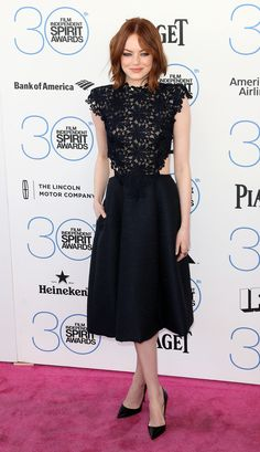In Monique Lhullier at the Independent Spirit Awards in Santa Monica.   - ELLE.com