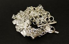 Vintage PACO RABANNE Rock Crystal Bracelet