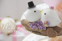 So cute! LOVE ANGELS Wedding Cake Topperlove bird with branch by kikuike, $120.00