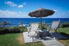 Santa Barbara Eco-Beach Resort, Sao Miguel, Azores – a dream between mountains and sea Santa Barbara, Bergen, Beach Resorts, Portugal, Europe, Patio, Island, Mountains, Outdoor Decor