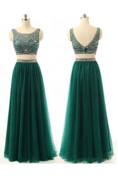 Custom Made Prom Dress Evening Gown In Two Pieces PG 219