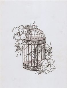 i like the style of this, i already know what i want my birdcage tattoo to look like and the design of this is spot on