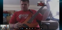 Skype bass lesson today!!! I donate lessons to blind students and this is my buddy Tony who rips on the guitar an wanted some pointers for right hand technique for Funk & Metal.  www.jeffrey-thomas.com