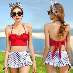 High Waist Dot TWO-PIECE Tankini Swimsuit