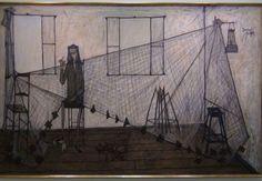 La Ravadeuse de fillet 1949 by Bernard Buffet