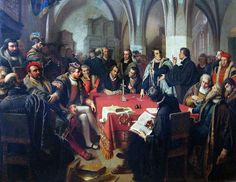 Colloquy at Marburg between Ulrich Zwingli and Martin Luther