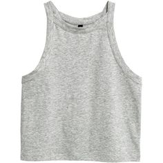 Jersey vest top $12.99 (370 UYU) ❤ liked on Polyvore featuring tops, clothes - tops, cropped tank top, jersey tank, crop tank, cropped tops and jersey tank top