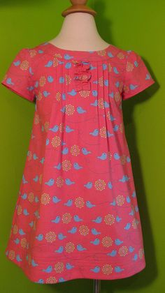 Family Reunin dress, size 4 by wendyls1. Cute fabric, just right for this pattern.