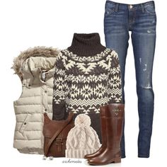 Winter outfit kids. Time to hit the ski slopes. I'll sip hot chocolate at the lodge:)