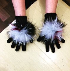 Furs with gloves!