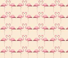flamingo heart fabric by trinekaye on Spoonflower - custom fabric