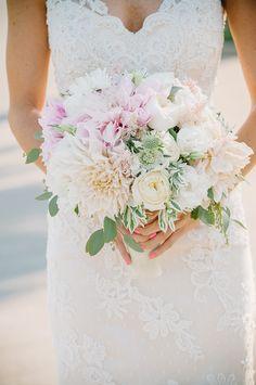 A romantic pink Dahlia inspired wedding by Krista Mason - Wedding Party