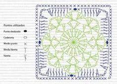 Znalezione obrazy dla zapytania free crochet snowflake afghan patterns