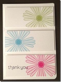 Mixed Bunch Thank You Note Cards. Melon Mambo, Tempting Turquoise, Lucky Limeade. Made for You.