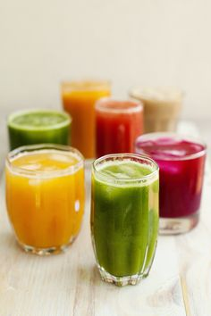 A week of juicing recipes   I love juicing. My skin glows, you get to pack in nutrients and it's just a  delicious snack to have on the go. This week I have felt a lot better.  Putting on the juicer first thing in the morning to make up some sort of  concoction to give my family and for me to enjoy. It then gets turned on  again in the middle of the day, and in the afternoon as a pick me up. I  just love them and the combinations and flavours are endless!