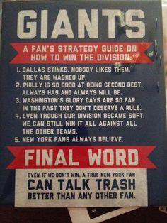 A Fan's Strategy Guide....New York Giants!