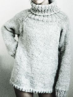 Make yourself a chunky knitted oversized sweater with this free knitting pattern.                                                                                                                                                                                 More
