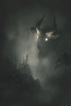 Depression Illustration Jungle Animals Series by Dawid Planeta Dark Fantasy Art, Fantasy Artwork, Arte Horror, Horror Art, Fantasy Creatures, Mythical Creatures, Art Goth, Art Sinistre, Fantasy Art