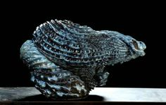 Johan Creten, Vague moyenne pour Palissy, 2008 - 2010  Sèvres stoneware clay with grog and crystalline glazes