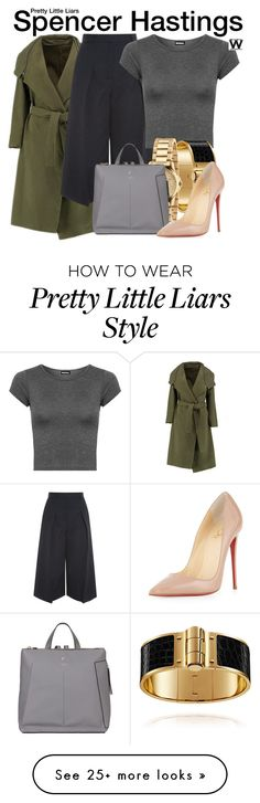 """""""Pretty Little Liars"""" by wearwhatyouwatch on Polyvore featuring Erdem, WearAll, Gucci, Fiorelli, Christian Louboutin, television and wearwhatyouwatch"""
