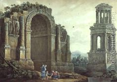 The Triumphal Arch at St.Remy by Charles-Louis Clerisseau