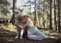 This beautiful girl and her husky makes me think of Sansa and her Lady.... children of summer in the forests of Winterfell    *sniffle*     http://25.media.tumblr.com/tumblr_m99rcl4Ri81rvb8w2o1_500.jpg