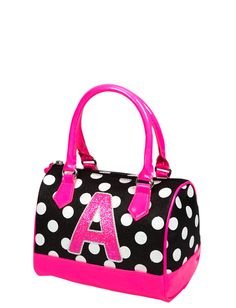 Initial Polka Dot Doctor Bag | Fashion Bags | Bags & Totes | Shop Justice