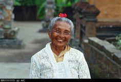 Old and cute woman, Tulamben, Bali, Indonesia