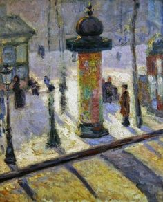 Kiosk on the Boulevard Clichy, 1886-87 by Louis Anquetin (French, 1861–1932)