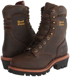 """The #Chippewasuperlogger has an electrical shock resistant Vibram sole which also has a 2"""" heel. It is essential for logger boots to have great traction to maintain stability and keep its occupants firmly grounded.  http://best-workboots.com/chippewa/chippewa-9-waterproof-steel-toe-super-logger-boot-review/"""