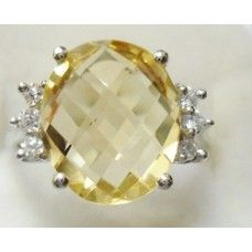 3.250 Grms Designer Sterling Silver Ring with Natural Citrine