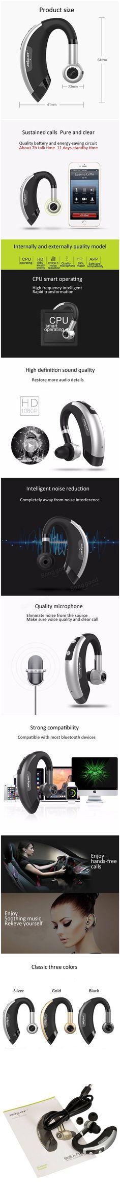 ZEALOT E1 Wireless Bluetooth 4.0 Headset Headphone Earphone With Mic For iPhone HTC