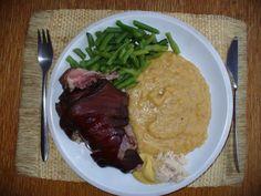 Uzené koleno pečené v PH Steak, Grains, Rice, Food, Essen, Steaks, Meals, Seeds, Yemek