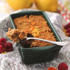 """Single-Serving Carrot Cake Quinoa """"Bake"""" -- if you like baked oatmeal then you will LOVE this delicious, high protein baked quinoa!!"""