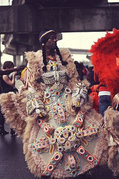 Mardi Gras Indians 2013 - Tremé, New Orleans - Big Chief Markeith Tero, Trouble Nation Tribe