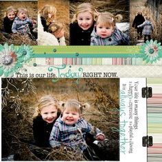 Today Right Now - Enchanted Digital #Scrapbooking Layout from Creative Memories    http://www.creativememories.com