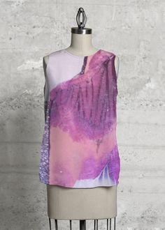 Sleeveless Top: This top, cut with a flattering A-line and a rounded asymmetric hem, will make you look and feel effortlessly beautiful - day or night. Vida Design, Island Girl, Ten, High Low, Tie Dye, Dress Up, The Originals, Shopping, Beautiful