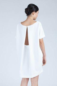 KAAREM Open Back Dress - White $260