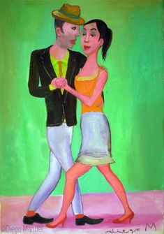 """bailarin de Tango 2 "", acrylic on canvas, 33 X 24 cm"