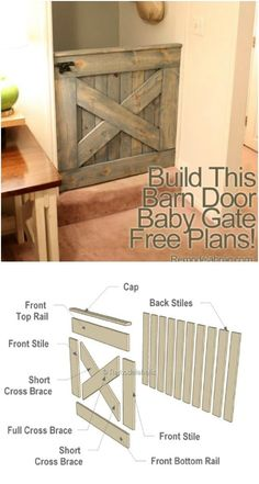60 DIY Barn Door Projects to Add Some Farmhouse Flair to Your Home Scheunentor Baby Tor Barn Door Baby Gate, Barn Door Decor, Diy Barn Door, Baby Door, Wood Baby Gate, Country Look, French Country, Country Living, Design Rustique