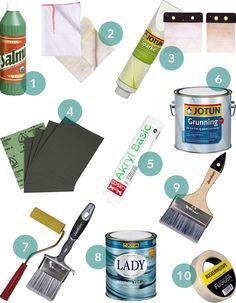 Hva trenger du for å male møbler?