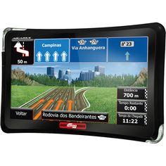 """GPS Guia Quatro Rodas MTC 4508 com TV Digital Tela 5"""" Slim Touch Screen Mapas em 3D e Alerta de Radares << R$ 9900 >>"""
