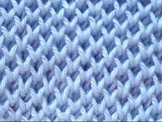 Cómo Tejer Punto Panal-Honeycomb Brioche Stitch 2 Agujas (265) - YouTube