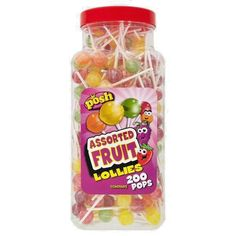 Posh Assorted Fruit Lollies & Posh Traffic Lights Lollies 200 in each tub. #POSH