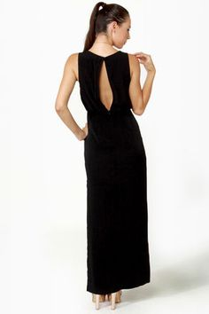Pretty Maxi Dress - Black Dress - Column Dress - $49.00
