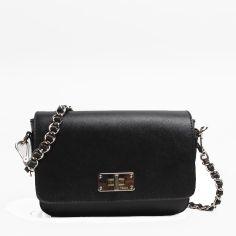 PRADA Saffiano Calf Leather Shoulder Bag BT0830 Black 4db0a8fce10e9