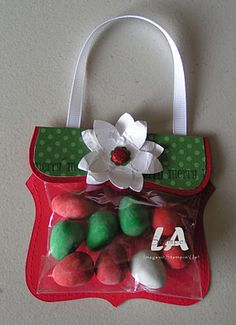 LA Stamper: A Christmas Purse made with top note