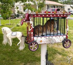 Circus Mailbox (might be challenging for a letter carrier to identify!)